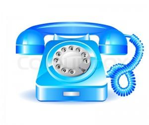 Telefon blau 1